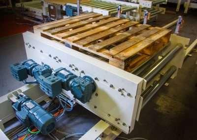 CKF installed pallet conveyor