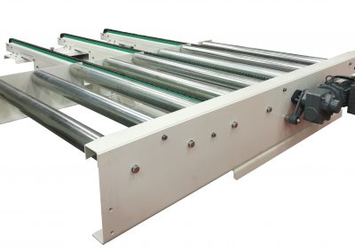 An example of a pallet conveyor built and designed by CKF