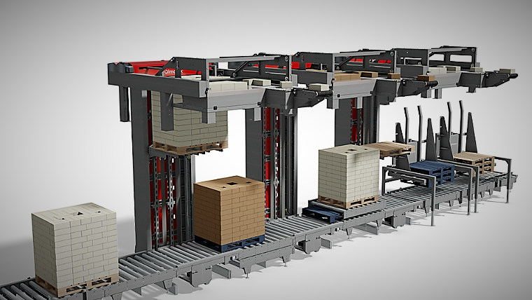An example of a layer palletising system
