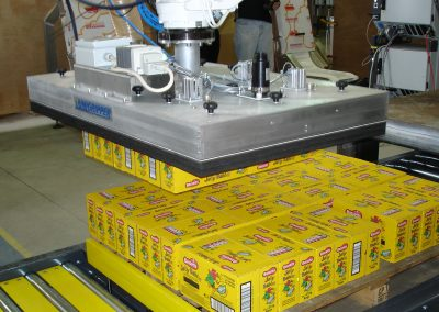 robot palletising boxes of sweets
