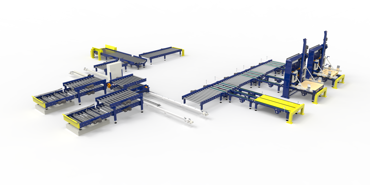 This is the design of a conveyor system we installed for one of our customers