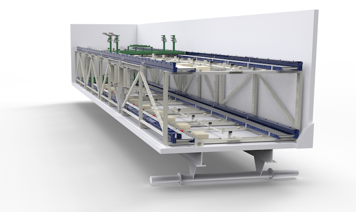 A pre-build design of a CKF industrial automatin trailer platen solution