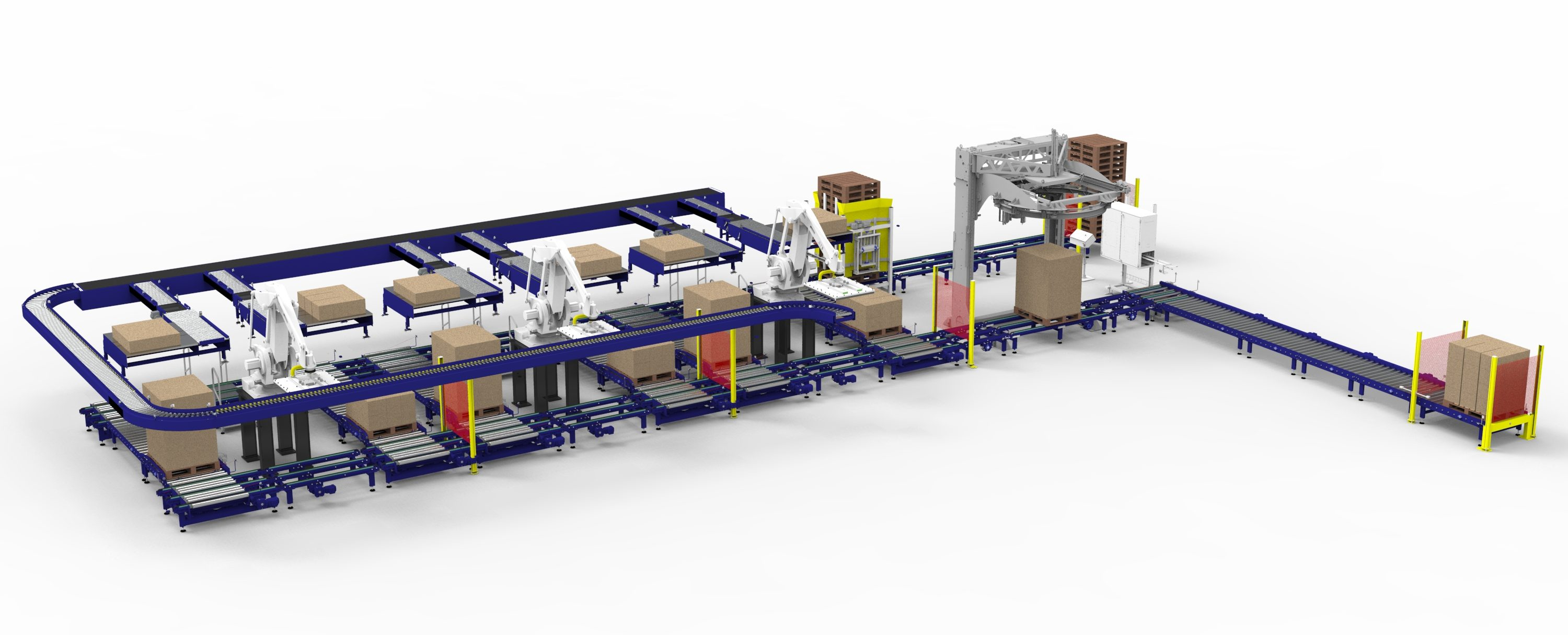 A solution which combines robot and layer palletising in one system