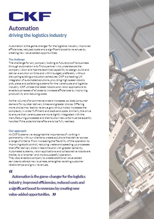A case study showing how robotics and automation drive forward the industry