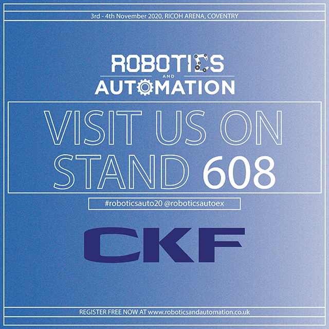 CKF to exhibit at the Robotics and Automation 2020 exhibition