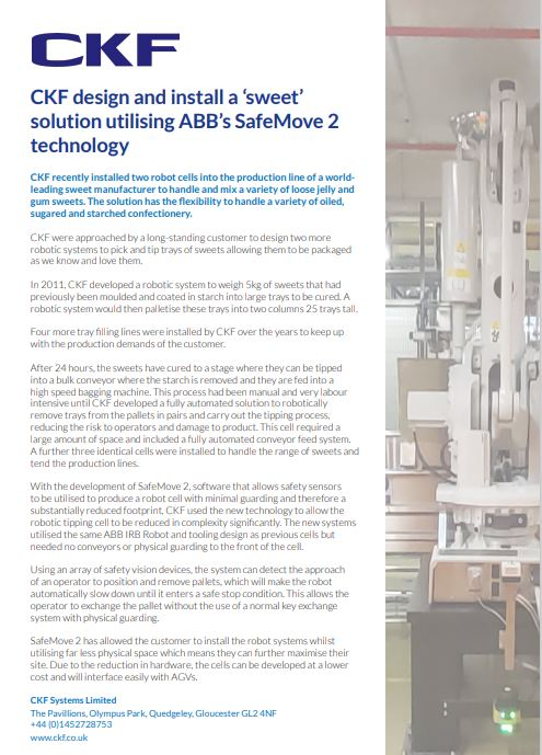 Safemove 2 case study for leading sweet manufacturer