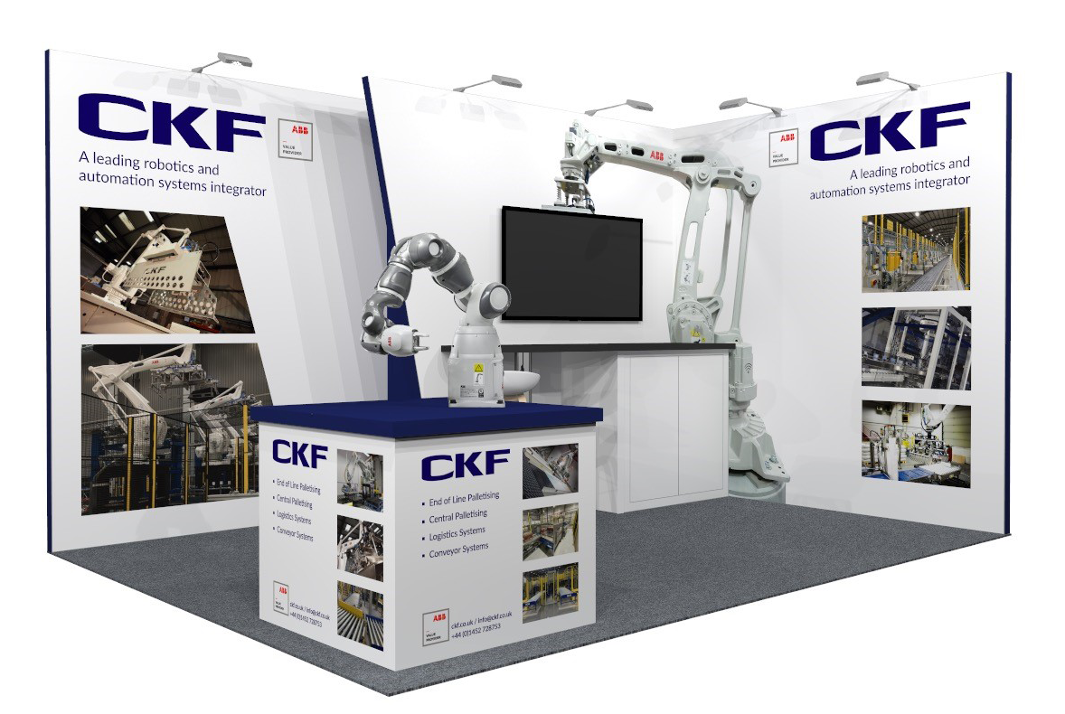 CKF Systems to share the latest technology to speed up and streamline your operations with visitors to the Robotics and Automation exhibition